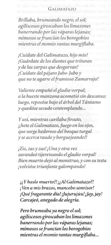 Galimatazo, el Jabberwocky de Jaime de Ojeda (1973)