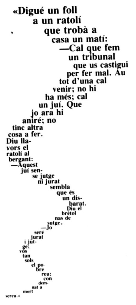 Cal·ligrama del Ratolí, cap. III