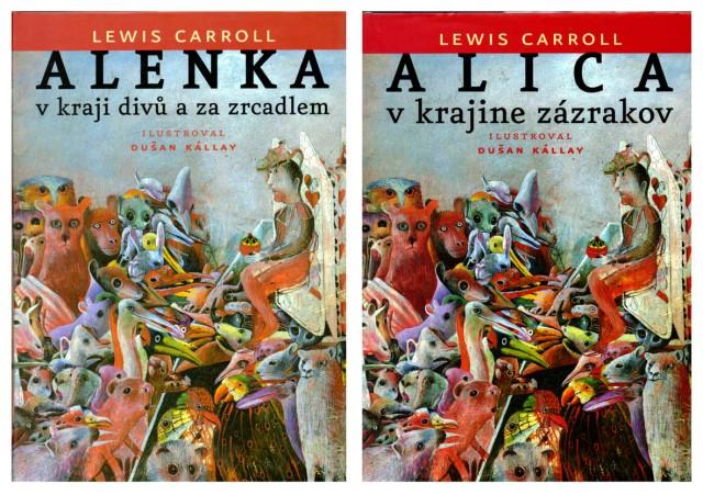 Portades de les Alícies en txec (esquerra) i eslovac (dreta). Fitxes 10 i 11