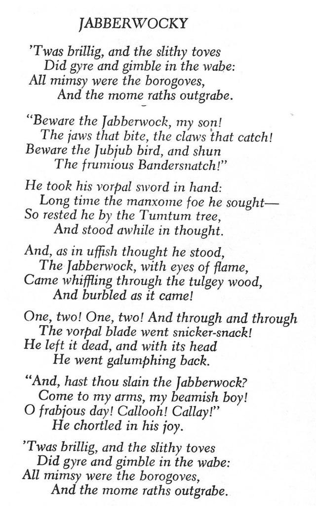 Jabberwocky anglès