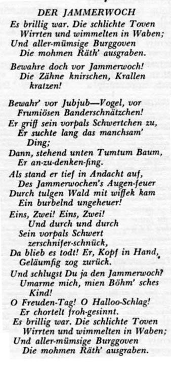 Der Jammerwoch, de Robert Scott (1871)