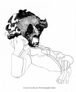 Retrat de Charles Dodgson, per Hermenegildo Sábat