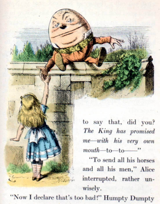 Humpty Dumpty acolorit per Kredel. Fitxa 45