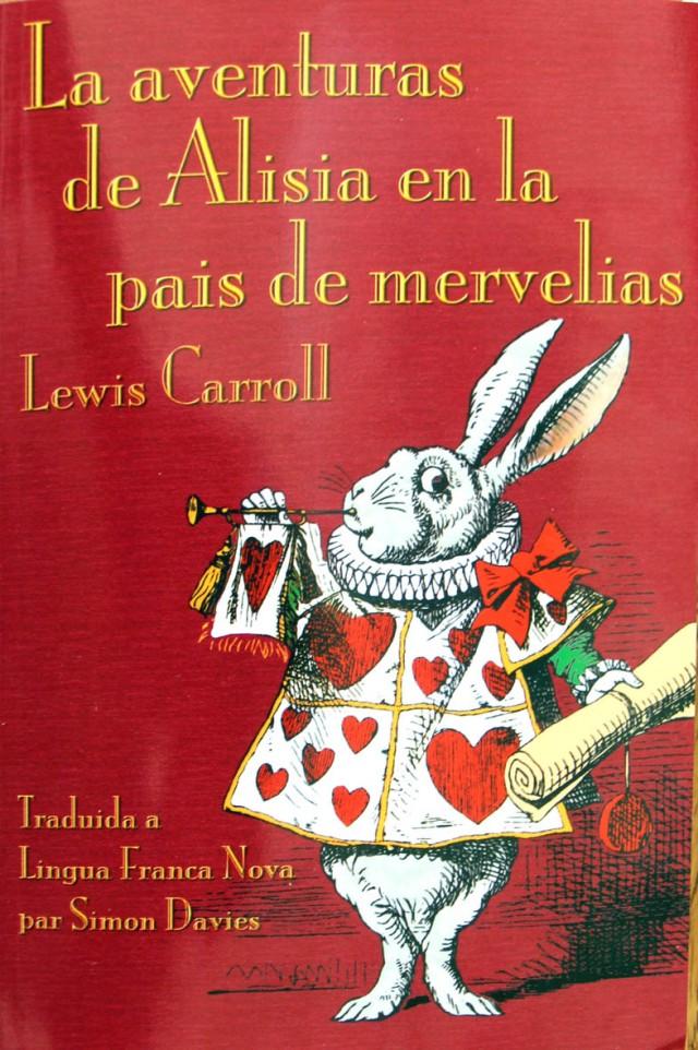 Portada de l'Alícia en Llengua Franca Nova. Fitxa 51
