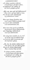 Jabberwocky en danès. Fitxa 72