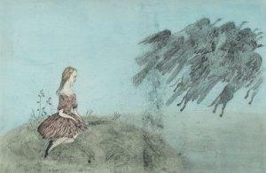 La fugida dels ocells, de Kiki Smith (2000). Fes clic per ampliar.