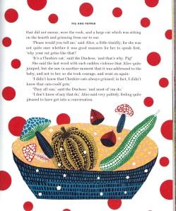 Una pàgina del llibre il·lustrat per Yayoi Kusama. Fitxa 68.