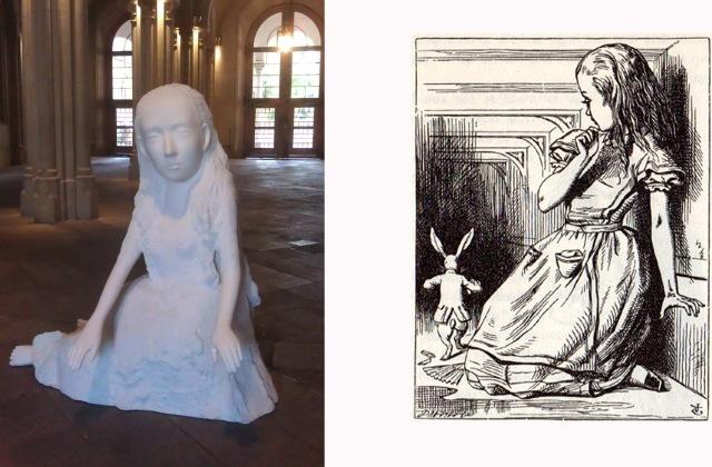 Seer (Alice I) a la UB, comparada amb el dibuix de Tenniel