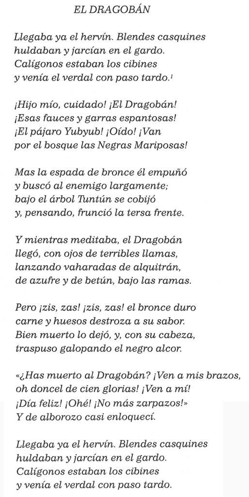 El Dragobán de Marià Manent. Fitxa 75