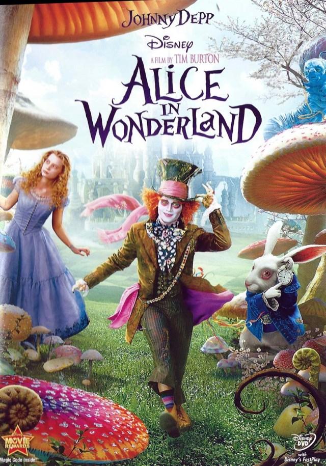 """Caràtula de la pel·lícula """"Alice in Wonderland"""" de Tim Burton"""