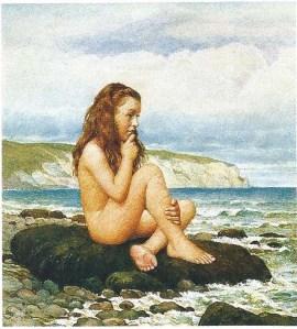 Retrat de Beatrice Hatch, retocat a l'aquarela per A.L Bond. Recuperat el 1978.  Fes clic per ampliar.