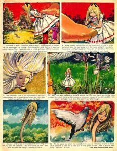 Una de les pàgines de la revista Once upon a Time amb l'Alícia.