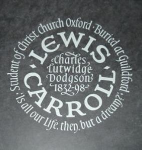 Memòria de Lewis Carroll a Westminster.