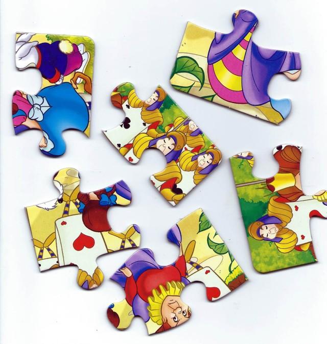 Els trossos de puzzle d'una pàgina. Fitxa 140