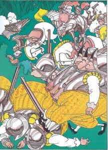 Batalla del Lleó i l'Unicorn. Fitxa 134. Fes clic per ampliar.