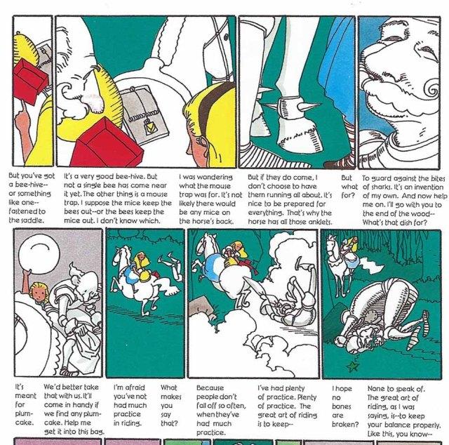 Fragment de l'episodi del Cavaller Blanc. Fitxa 134. Fes clic per ampliar.