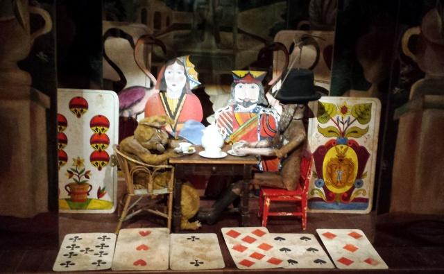 Jugadors de cartes, amb el Rei i la Reina de Cors.