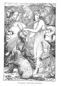 Fitxa 158. Il·lustració interior d'Henry Holiday. Fes clic per ampliar
