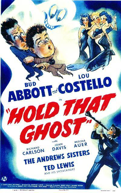 "Cartell de la pel·lícula ""Hold that ghost"""