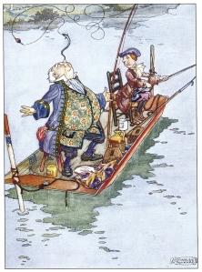 Il·lustració de Charles Folkard (1929). Fitxa 166. Fes clic per ampliar.