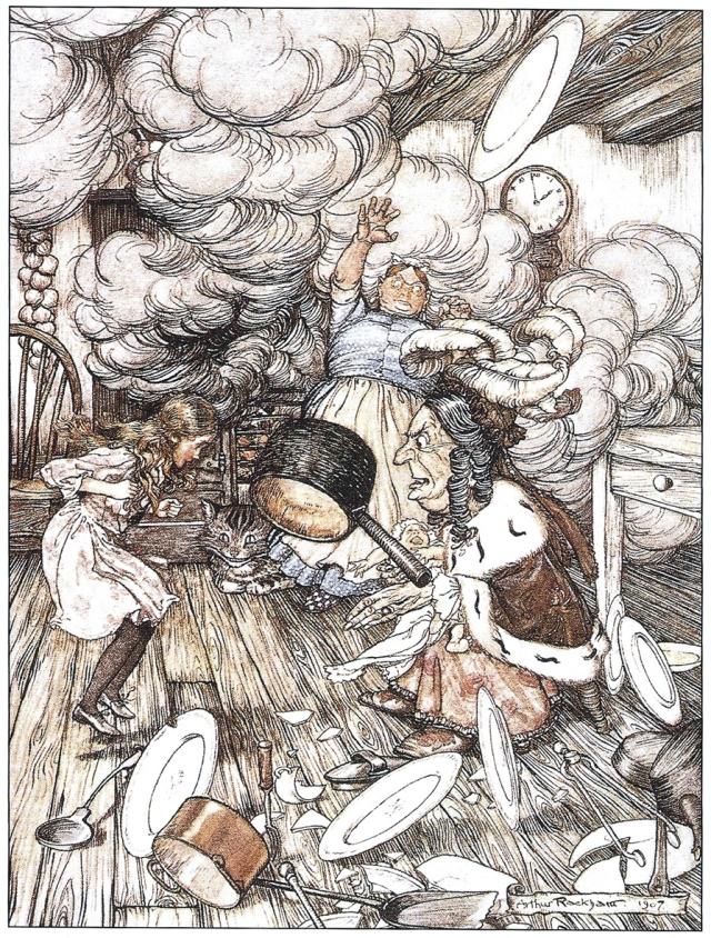 Il·lustració d' Arthur Rackham (1907). Fitxa 166.