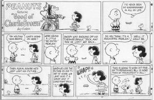 Snoopy de Cheshire, de Charles Schulz (1977). Fitxa 167. Fes clic per ampliar.