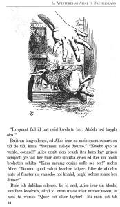 Una pàgina interior de l'Alícia en sambahsa. Fitxa 170. Fes clic per ampliar