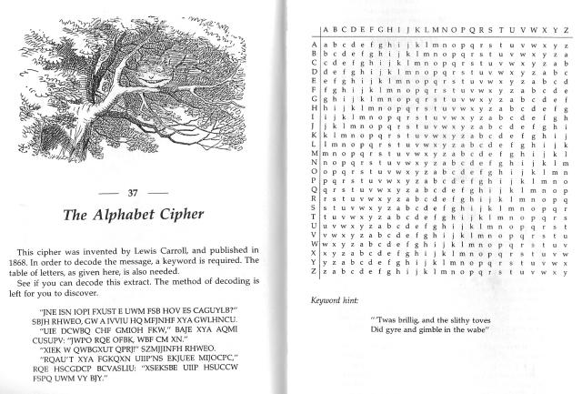 Problema 37: un text cifrat. Solució al final del post.  Fes clic per ampliar.