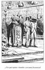 Una de les imatges de A.B.Frost del Conte Embolicat. Fitxa 185. Fes clic per ampliar.