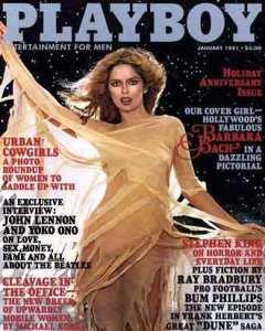 Portada del Playboy Magazine de gener de 1981 on anuncia l'entrevista a Lennon i Ono. Fes clic per ampliar.