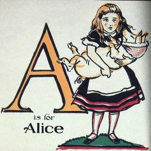 Un abecedari amb l'Alícia. Fitxa 196. Fes clic per ampliar.