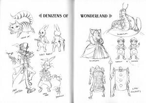 Esbossos de personatges. Fitxa 205.