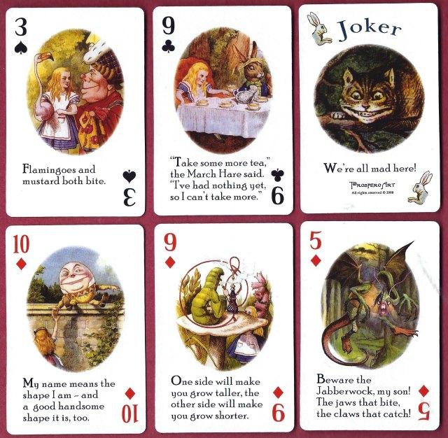 Sis cartes variades del joc.