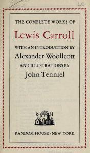 Primera pàgina de les Complete Works de 1920. Fes clic per ampliar.