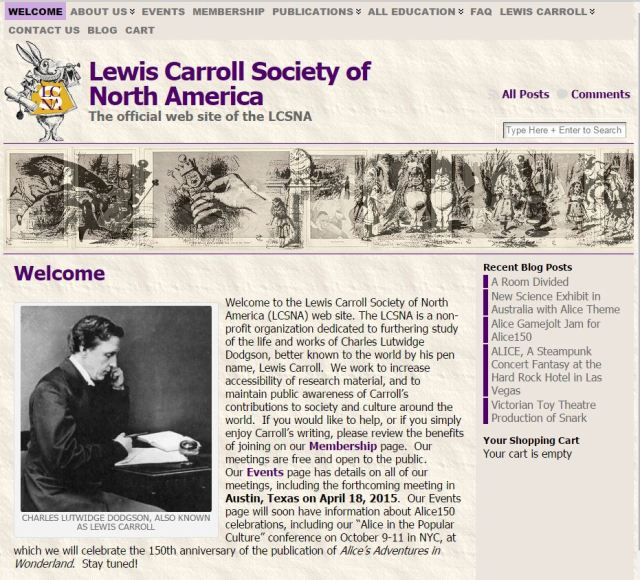 Pàgina web de la Lewis Carroll Society of North America