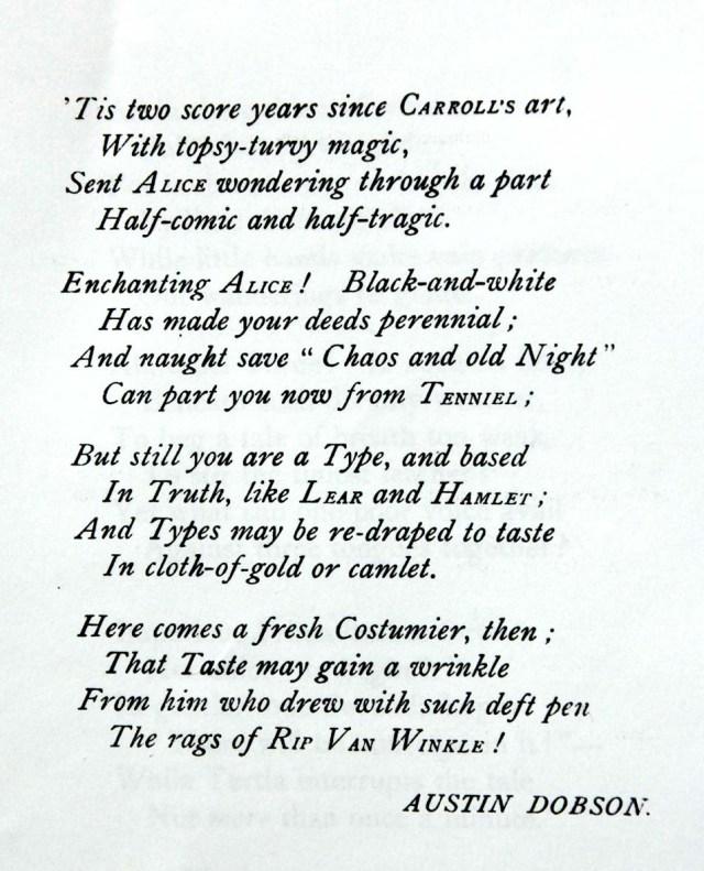 Poema del proemi dedicat a Dodgson