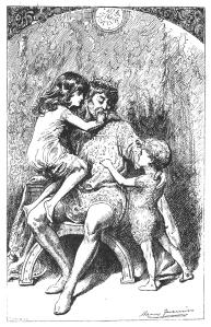 Sílvia, Bru i el seu pare. Fes clic per ampliar.
