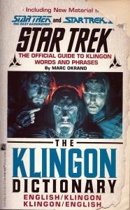 Gramàtica i diccionari klingon-anglès i viceversa. (1992)