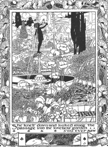 Fitxa 238. El jardí meravellós, en estil art deco. Charles Robinson (1907). Fes clic per ampliar.