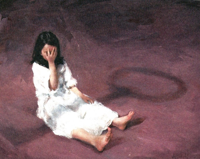 Alícia petita, amb l'ombra de la clau. Il·lustració de Leonor Solans (2011)