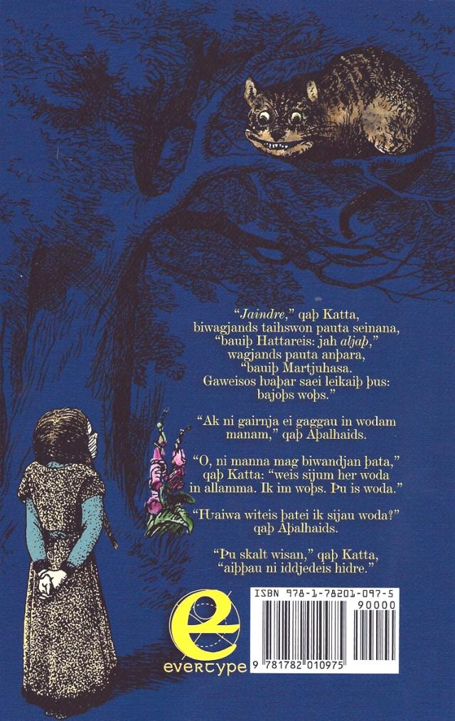 Fitxa 253. Coberta posterior, amb l'Alícia vestida de visigoda i un tros de text en gòtic.