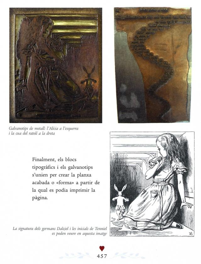Una pàgina de la història de la primera edició d'Alícia. Fes clic per ampliar.