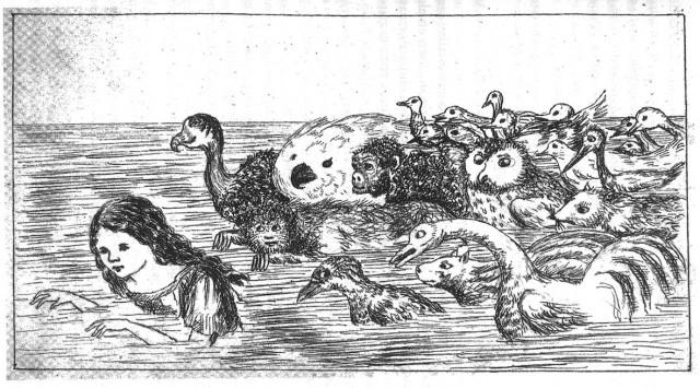 Fitxa 273. Una de les il·lustracions de Lewis Carroll.