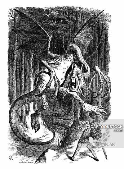 El Jabberwock de Sir John Tenniel, 1871