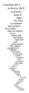 Poema del ratolí en la traducció de Bué. Fes clic per ampliar.
