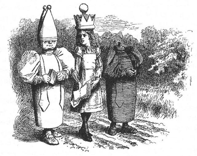 Els àlfils, representats com a bisbes, com es diuen en anglès
