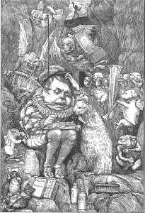 """Il·lustració de la """"tiritona quinta"""" El castor aprende. Fes clic per ampliar."""