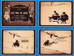 Fotogrames d'una de les Alice's Comedies. Fes doble clic per ampliar.