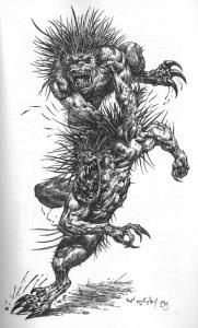Fitxa 308. Un  dels diversos monstres del llibre. Fes clic per ampliar.