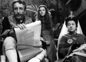 Peter Sellers com a Rei de Cors